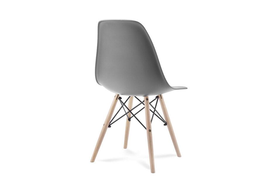 NEREA Szare krzesło skandynawskie ciemny szary - zdjęcie 3