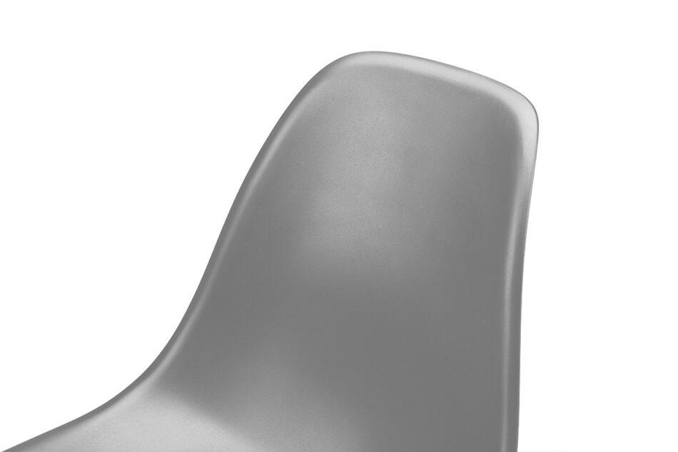 NEREA Szare krzesło skandynawskie ciemny szary - zdjęcie 4