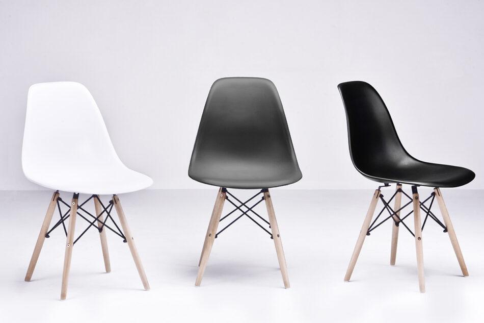 NEREA Szare krzesło skandynawskie ciemny szary - zdjęcie 6