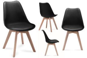 BESO, https://konsimo.pl/kolekcja/beso/ Komplet 4 czarnych krzeseł plastikowych czarny - zdjęcie