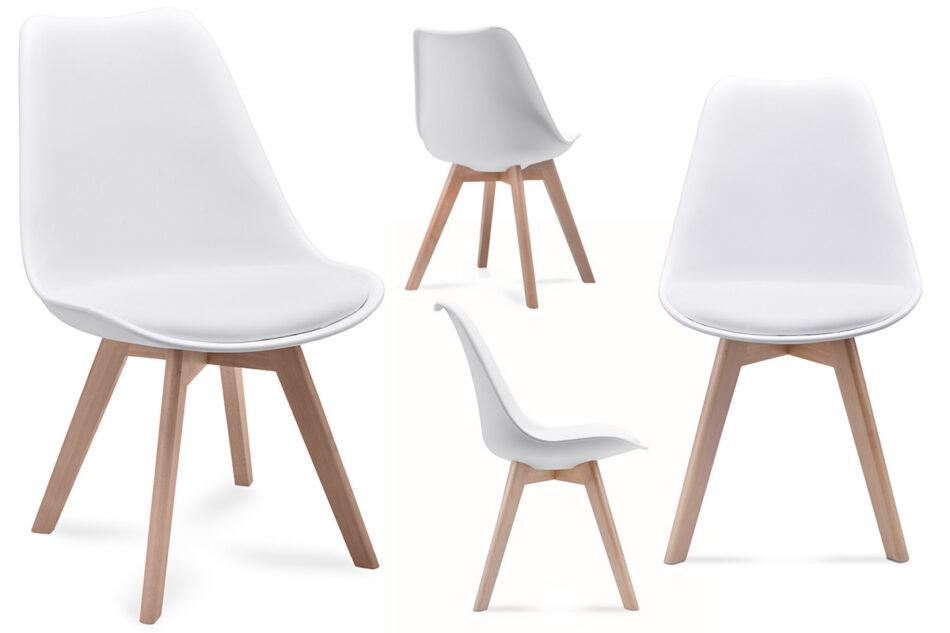 BESO Komplet 4 białych krzeseł plastikowych biały - zdjęcie 0