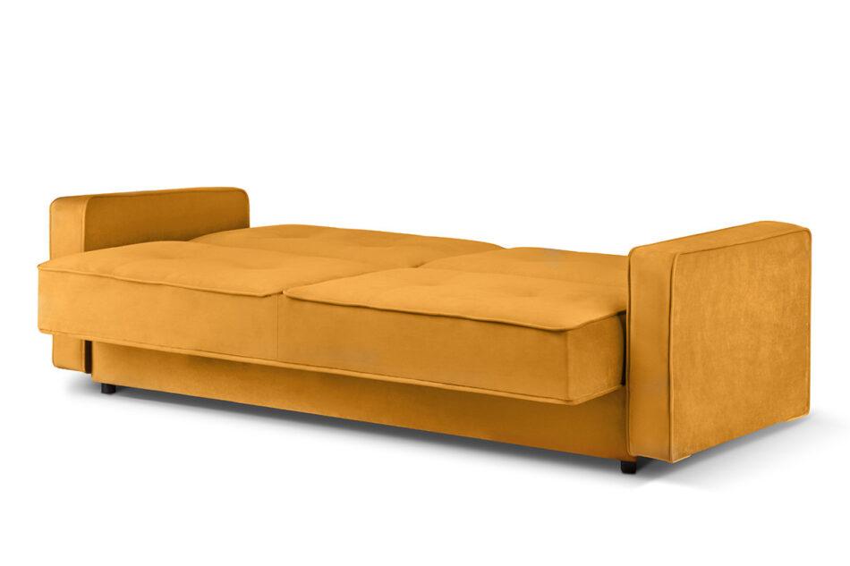 ORIO Żółta rozkładana kanapa do salonu welur żółty - zdjęcie 2
