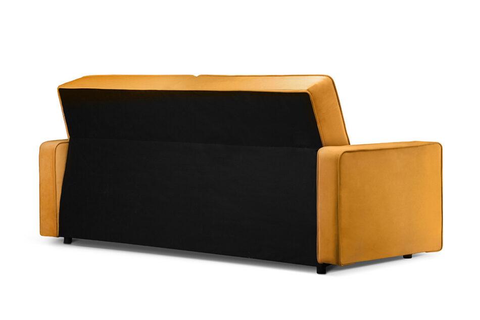 ORIO Żółta rozkładana kanapa do salonu welur żółty - zdjęcie 3