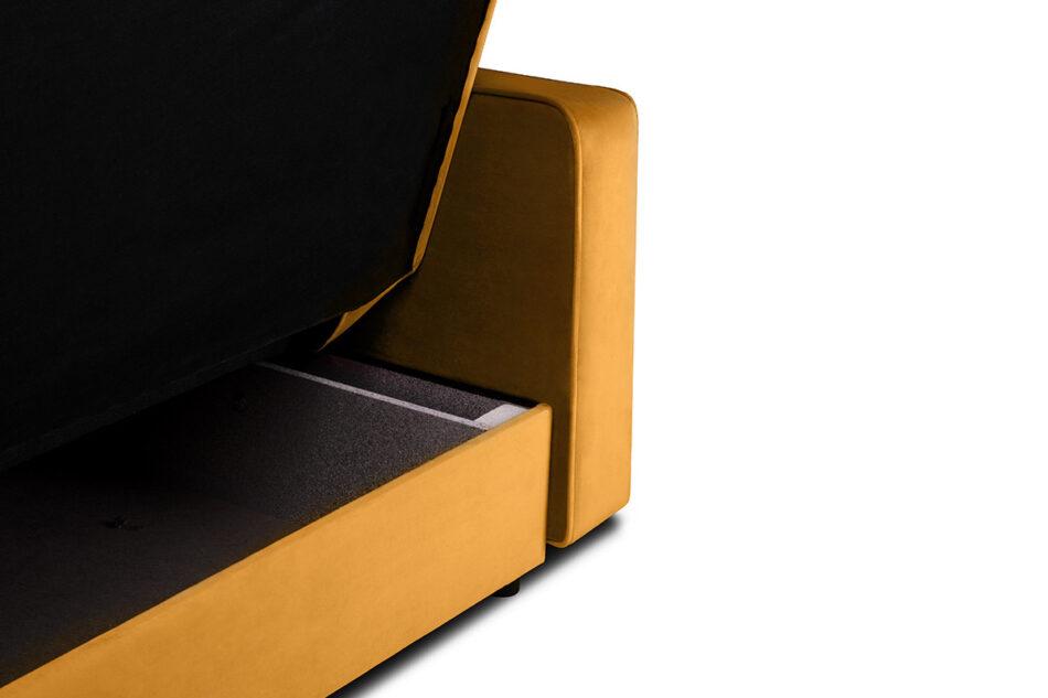 ORIO Żółta rozkładana kanapa do salonu welur żółty - zdjęcie 4