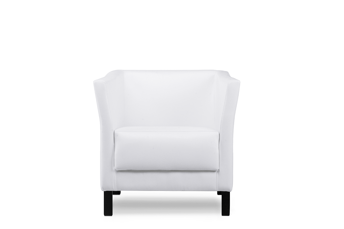 Fotel do poczekalni ekoskóra biały