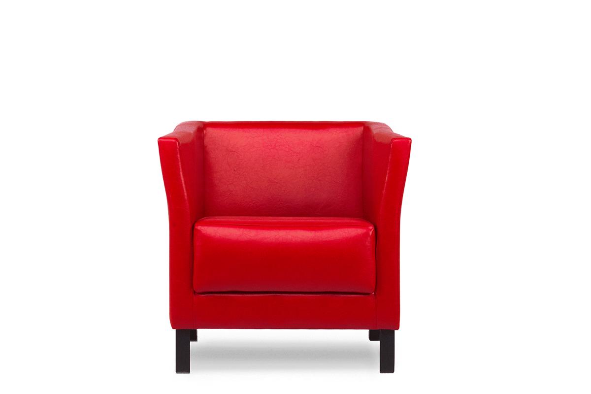 Fotel do poczekalni ekoskóra czerwony