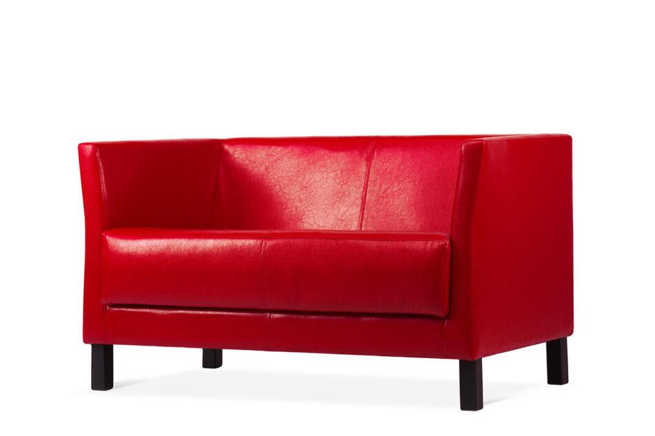 ESPECTO Sofa do poczekalni ekoskóra czerwona czerwony - zdjęcie 1