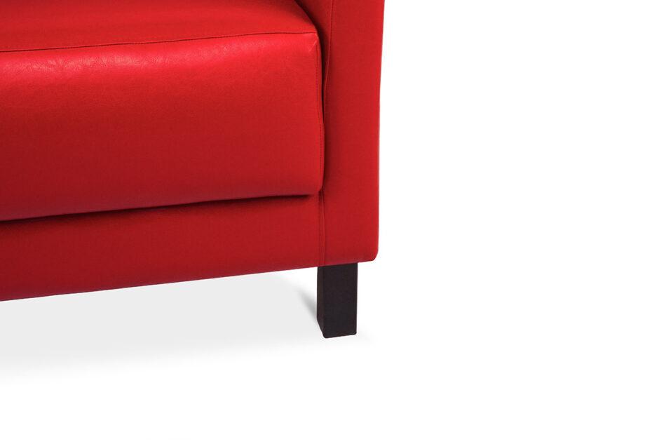 ESPECTO Sofa do poczekalni ekoskóra czerwona czerwony - zdjęcie 3