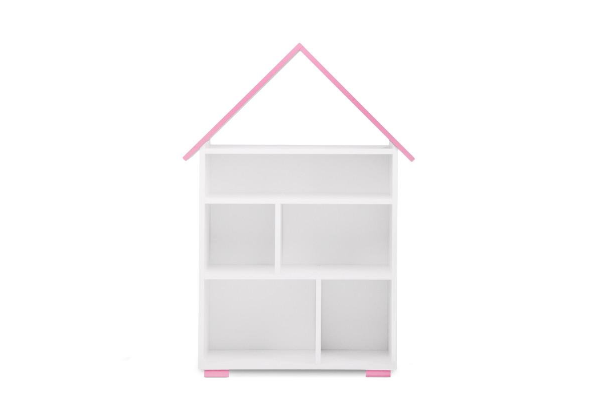 Regał na książki dla dziewczynki biały