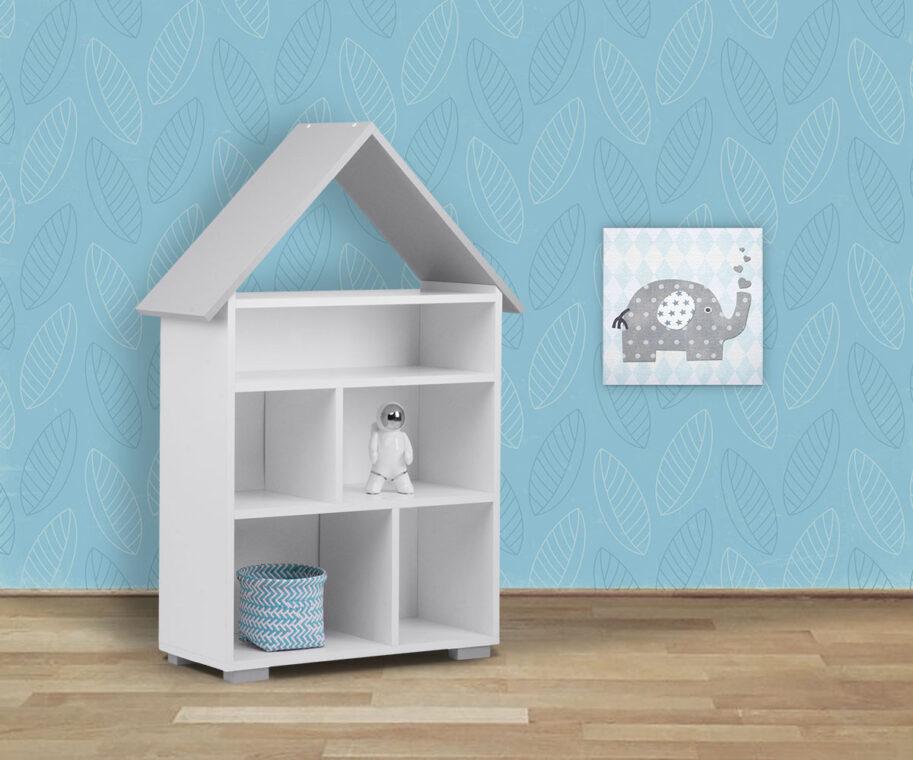 PABIS Regał dla dziecka szary biały/szary - zdjęcie 4