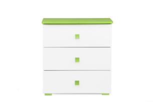 PABIS, https://konsimo.pl/kolekcja/pabis/ Komoda dla chłopca zielona biały/zielony - zdjęcie