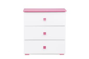 PABIS, https://konsimo.pl/kolekcja/pabis/ Komoda dla dziewczynki różowa biały/różowy - zdjęcie