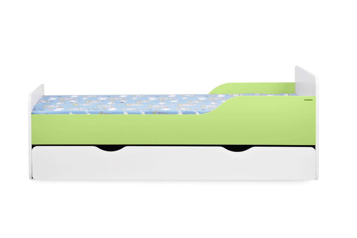 Łóżko rozkładane dla dziecka zielone