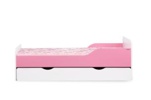 PABIS, https://konsimo.pl/kolekcja/pabis/ Łóżko rozkładane dla dziecka różowe biały/różowy - zdjęcie