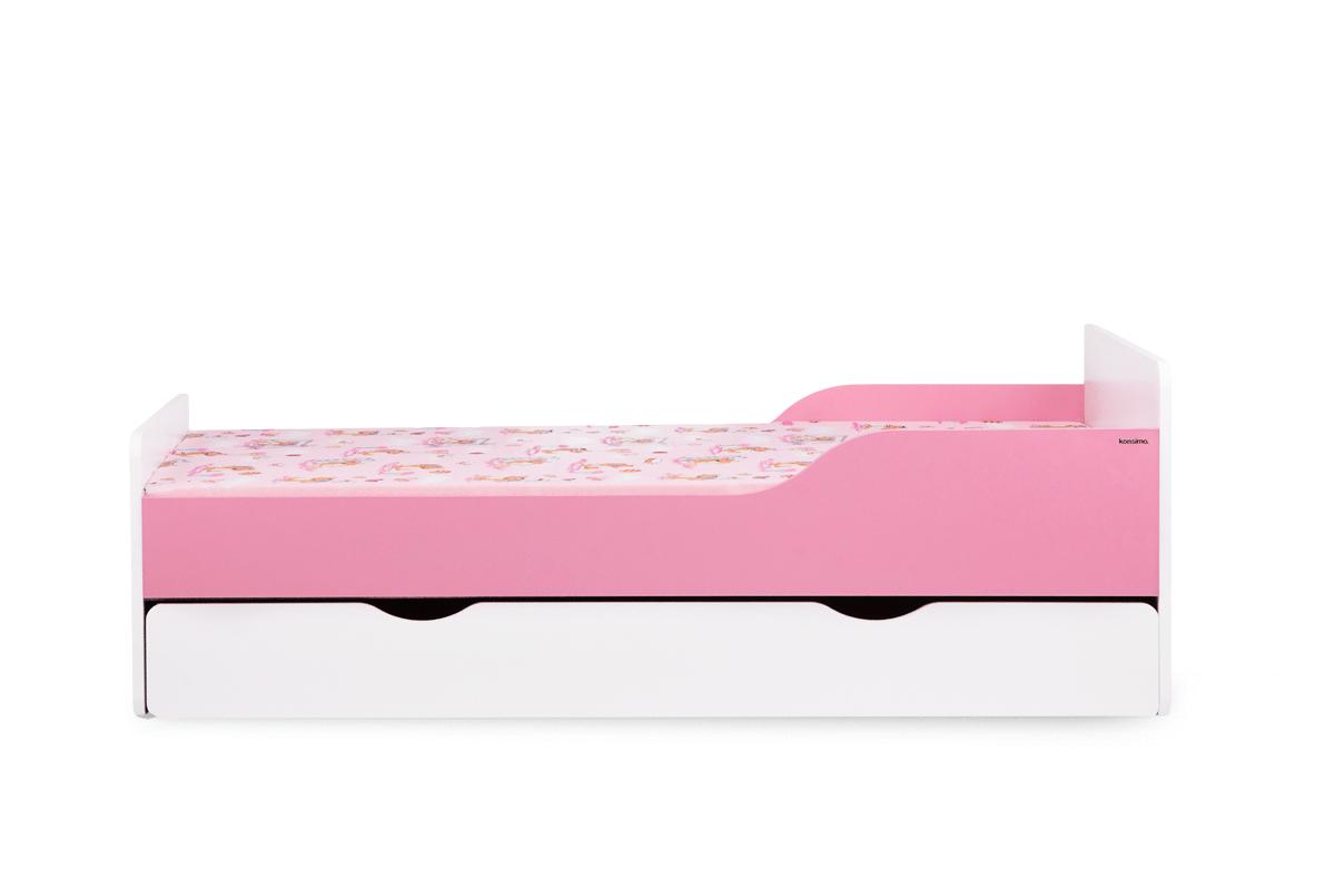 Łóżko rozkładane dla dziecka różowe