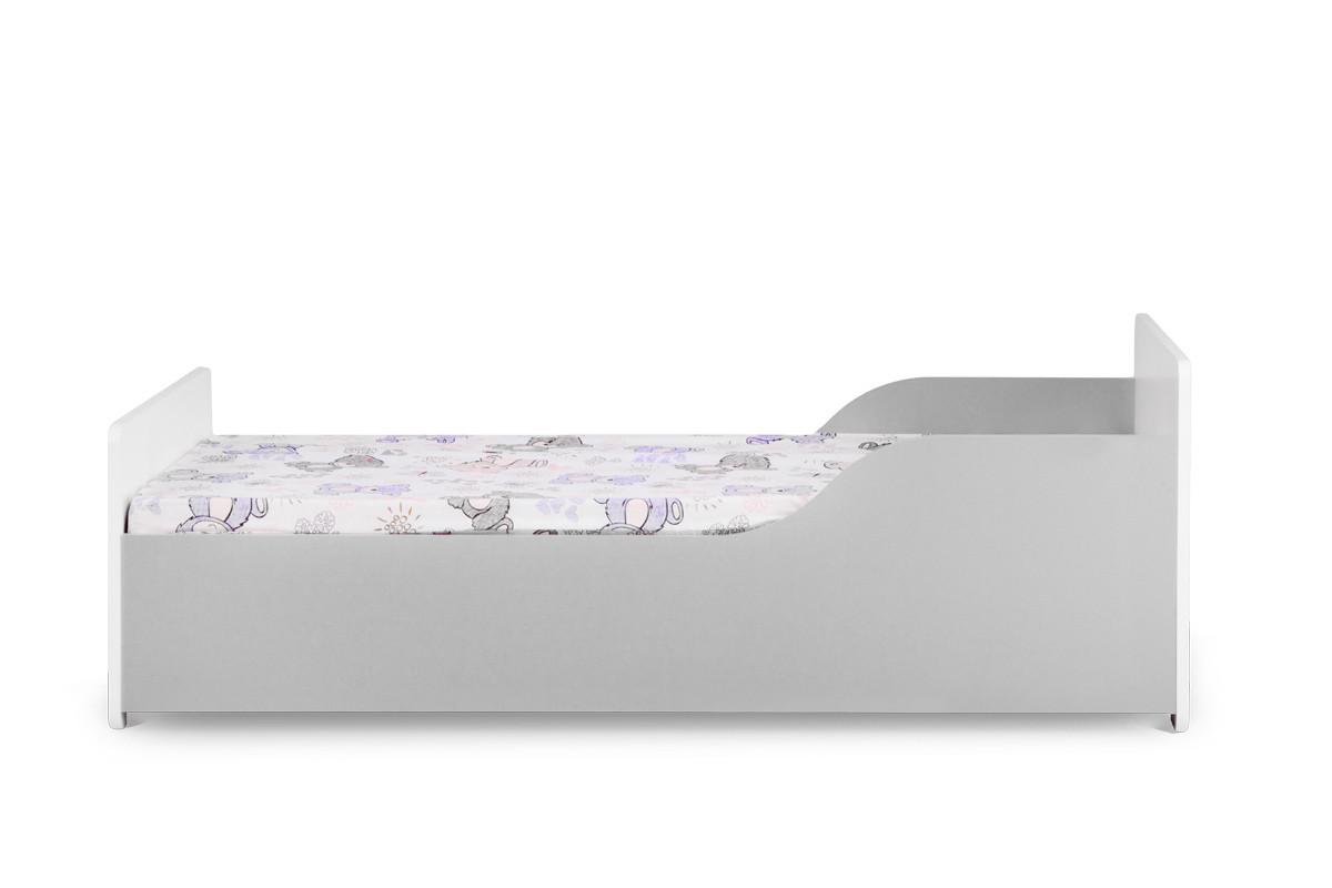 Łóżko dla chłopca z materacem szare