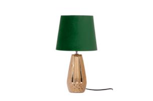 ERANA, https://konsimo.pl/kolekcja/erana/ Lampa stołowa złoty/zielony - zdjęcie