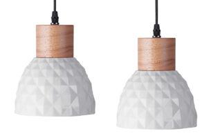 KARI, https://konsimo.pl/kolekcja/kari/ Zestaw lamp wiszących 2 szt. biały - zdjęcie