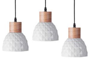 KARI, https://konsimo.pl/kolekcja/kari/ Zestaw lamp wiszących 3 szt. biały - zdjęcie
