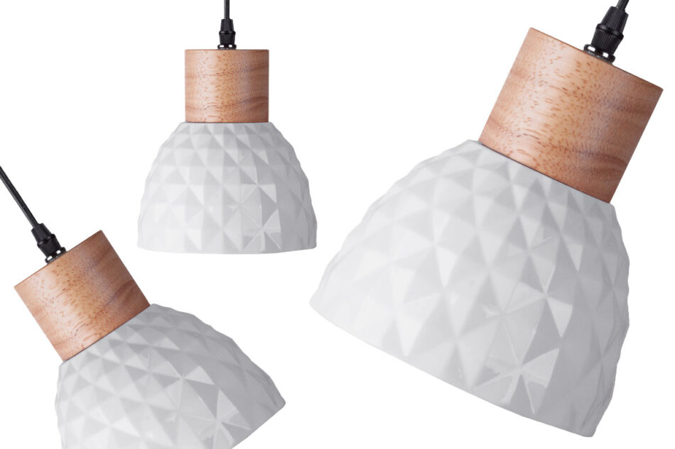 KARI Zestaw lamp wiszących 3 szt. biały - zdjęcie 1