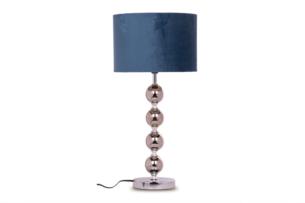 RASI, https://konsimo.pl/kolekcja/rasi/ Lampa stołowa srebrny/granatowy - zdjęcie