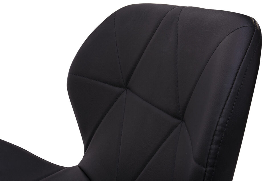 TRIGO Skandynawskie krzesło na drewnianym stelażu ekoskóra czarne czarny - zdjęcie 7