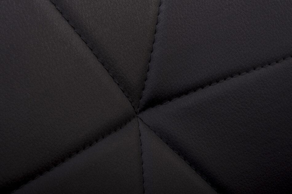 TRIGO Skandynawskie krzesło na drewnianym stelażu ekoskóra czarne czarny - zdjęcie 9