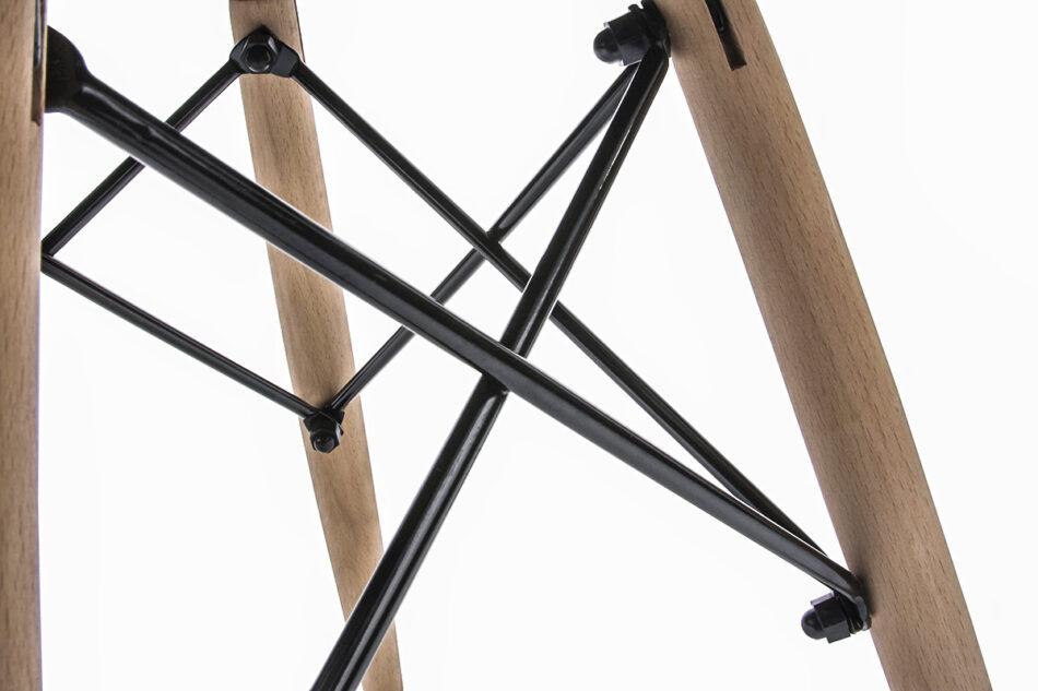 TRIGO Skandynawskie krzesło na drewnianym stelażu ekoskóra czarne czarny - zdjęcie 8