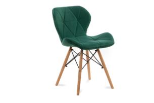TRIGO, https://konsimo.pl/kolekcja/trigo/ Skandynawskie krzesło na drewnianym stelażu butelkowa zieleń ciemny zielony - zdjęcie