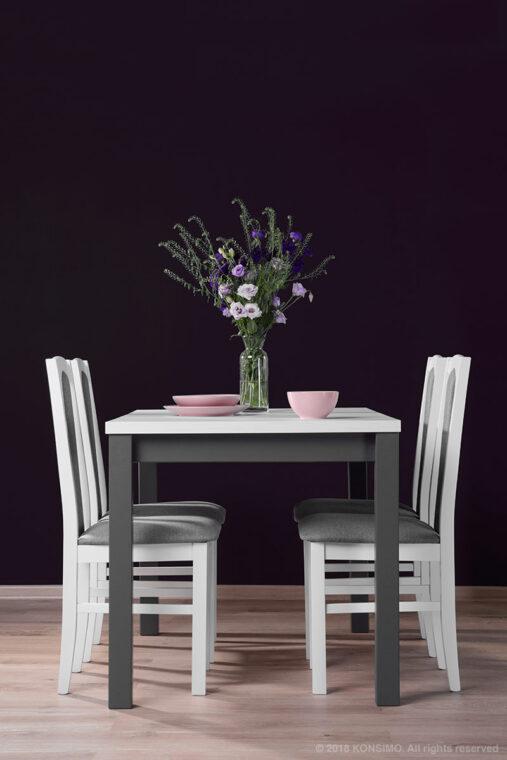 SILVA Stół szary / bialy - zdjęcie 6