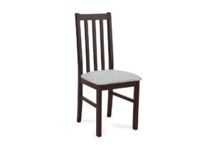 QUATUS, https://konsimo.pl/kolekcja/quatus/ Krzesło wenge/jasny szary - zdjęcie