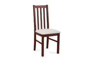 QUATUS, https://konsimo.pl/kolekcja/quatus/ Krzesło orzech/jasny beż - zdjęcie