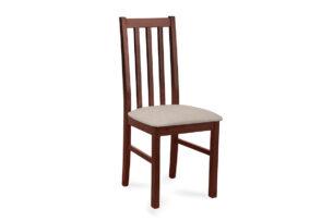 QUATUS, https://konsimo.pl/kolekcja/quatus/ Krzesło orzech/ciemny beż - zdjęcie