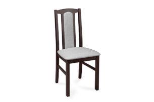 CIBUS, https://konsimo.pl/kolekcja/cibus/ Klasyczne krzesło do jadalni wenge tkanina szara wenge/jasny szary - zdjęcie