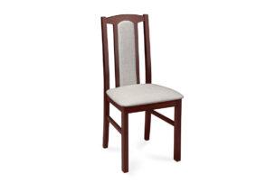 CIBUS, https://konsimo.pl/kolekcja/cibus/ Klasyczne krzesło do jadalni orzech tkanina jasny beż orzech/jasny beż - zdjęcie