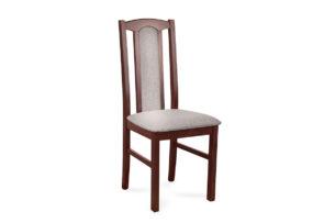 CIBUS, https://konsimo.pl/kolekcja/cibus/ Klasyczne krzesło do jadalni orzech tkanina beż orzech/ciemny beż - zdjęcie