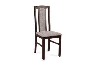 CIBUS, https://konsimo.pl/kolekcja/cibus/ Klasyczne krzesło do jadalni orzech tkanina beż wenge/beżowy - zdjęcie