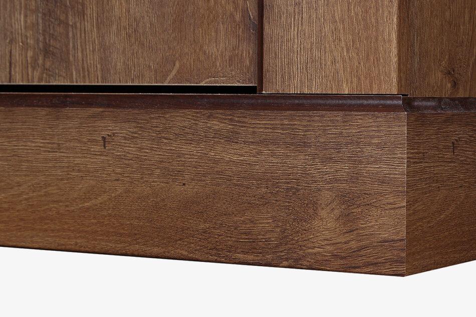 VETIS Komoda z szufladami i półkami 80 cm w stylu klasycznym jesion jesion jasny - zdjęcie 2