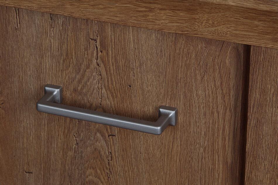 VETIS Komoda z szufladami i półkami 80 cm w stylu klasycznym jesion jesion jasny - zdjęcie 1