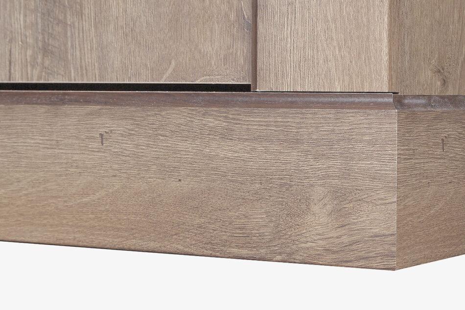 VETIS Komoda z szufladami i półkami 80 cm w stylu klasycznym dąb szary dąb naturalny - zdjęcie 3