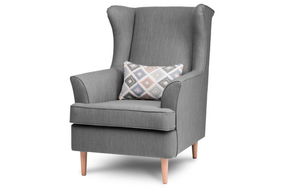 STRALIS Skandynawski fotel szary na nóżkach szary - zdjęcie 1