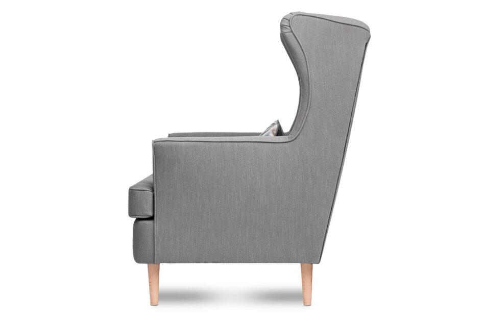 STRALIS Skandynawski fotel szary na nóżkach szary - zdjęcie 2