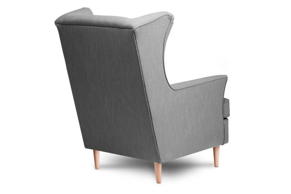STRALIS Skandynawski fotel szary na nóżkach szary - zdjęcie 3