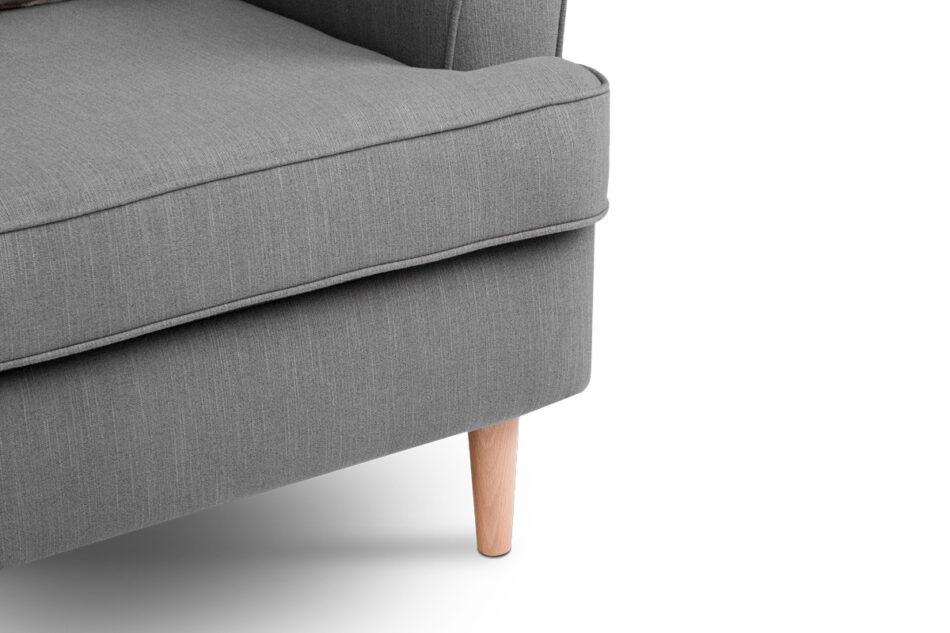 STRALIS Skandynawski fotel szary na nóżkach szary - zdjęcie 4