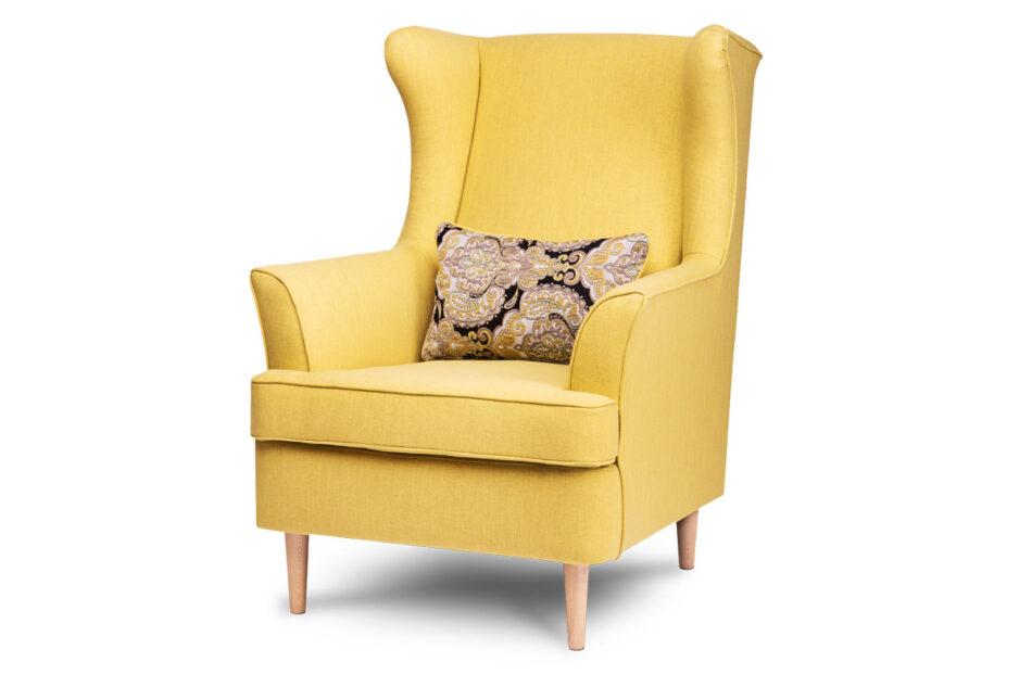 STRALIS Skandynawski fotel żółty na nóżkach żółty - zdjęcie 1