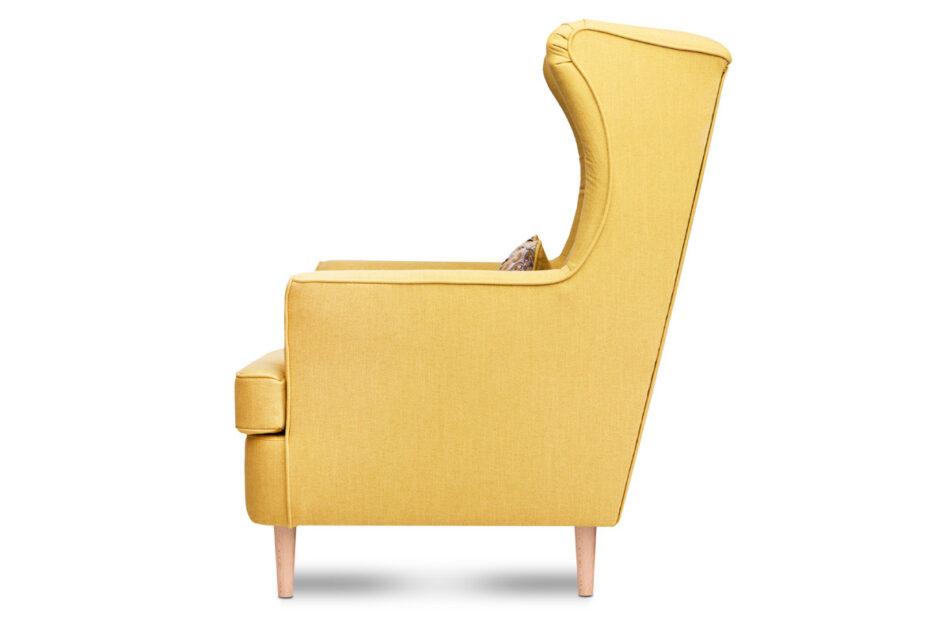 STRALIS Skandynawski fotel żółty na nóżkach żółty - zdjęcie 2