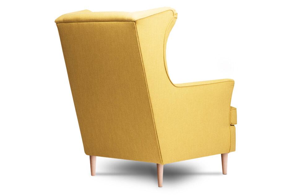 STRALIS Skandynawski fotel żółty na nóżkach żółty - zdjęcie 3