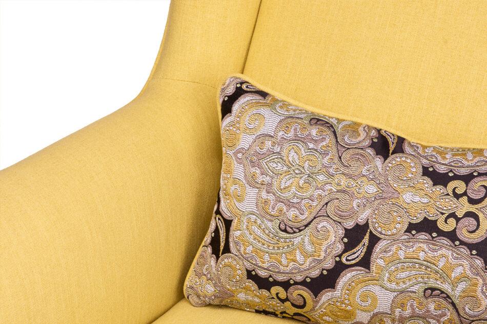 STRALIS Skandynawski fotel żółty na nóżkach żółty - zdjęcie 5