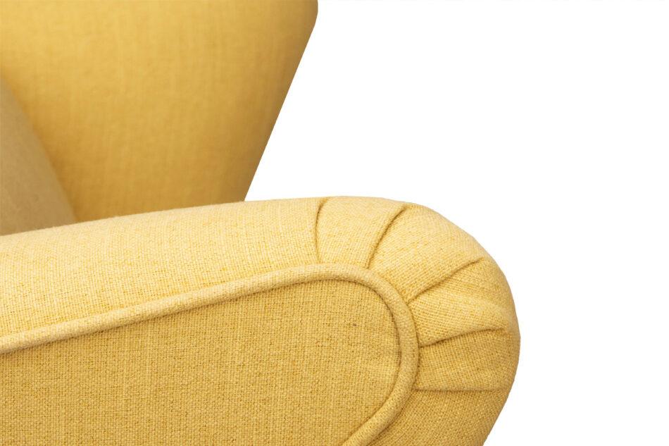 STRALIS Skandynawski fotel żółty na nóżkach żółty - zdjęcie 8