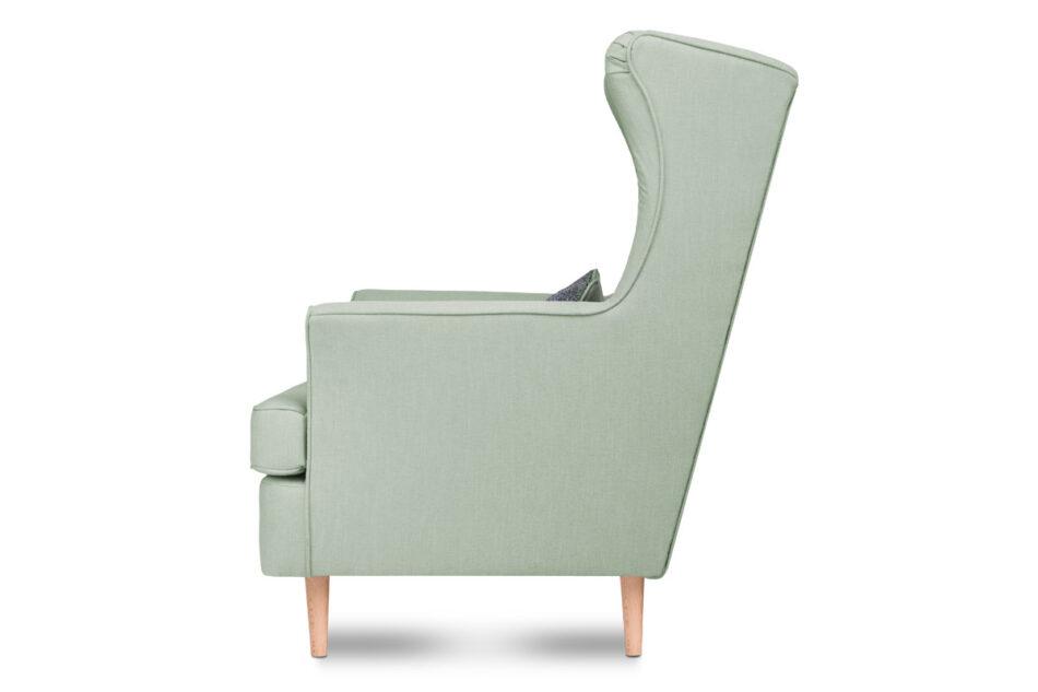 STRALIS Skandynawski fotel zielony na nóżkach miętowy - zdjęcie 2